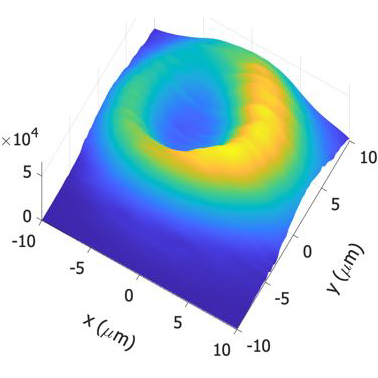 Spatiotemporal characterization of nonlinear intermodal interference between selectively excited modes of a few-mode fiber